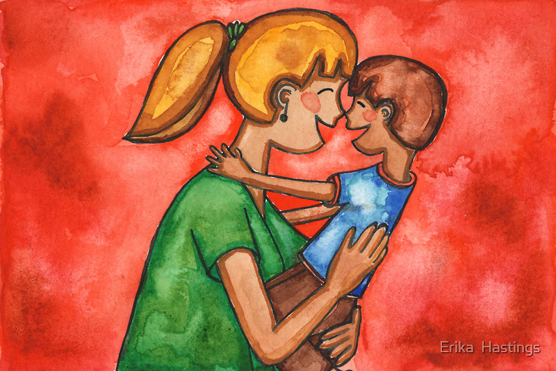 Nose Kiss by Erika  Hastings