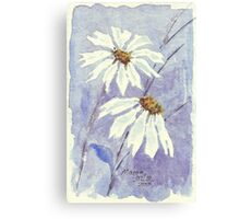 The two little Daisies Canvas Print