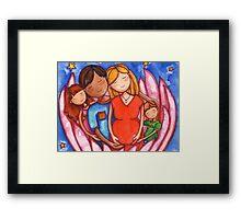 Peaceful Pregnancy Family Framed Print