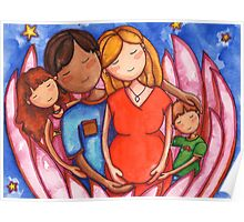 Peaceful Pregnancy Family Poster
