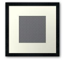 Geometric pattern in grey  Framed Print
