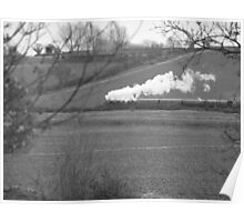 Steam in a Kentish field Poster