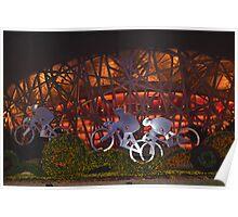 Birds Nest Bikers Poster