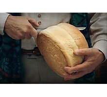 Slicing the bread Photographic Print