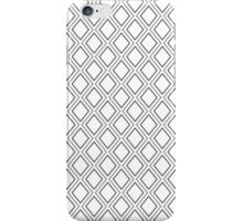 Geometric pattern in white and grey iPhone Case/Skin