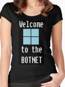 Welcome to The BotNet - black Women's Fitted Scoop T-Shirt