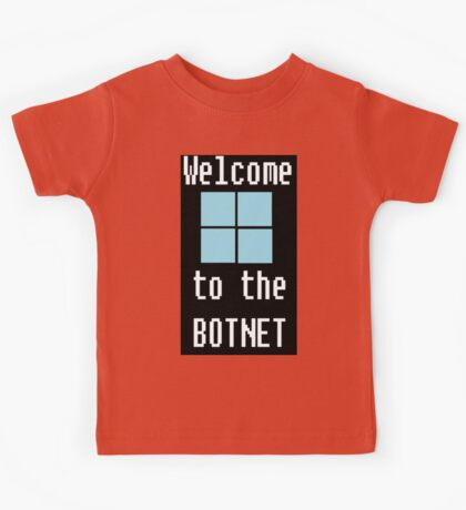 Welcome to The BotNet - black Kids Tee