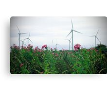 Turbines and Flowers Canvas Print
