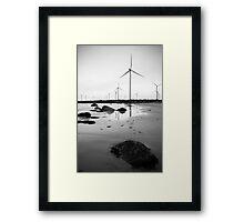 Coastal Wind Farm Framed Print