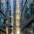 St.Pauls in a Glass Wall by Larry Davis