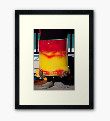 Act In A Can Framed Print