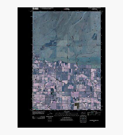 USGS Topo Map Washington State WA Sagebrush Ridge 20110407 TM Inverted Photographic Print