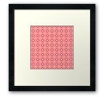 Geometric pattern in pink Framed Print