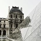 Old meets New at the Louvre by Trudi Skinn