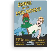 Geordie and the Smogg Monster Canvas Print