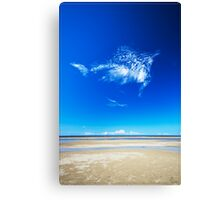 Blue Skies, Smiling at Me Canvas Print