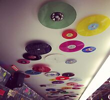 Ceiling of Bleecker Street Records - Greenwich Village - New York City by SylviaS