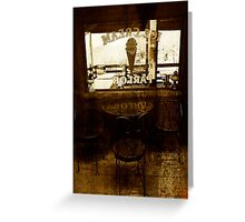 Nostalgic Ice Cream Parlor Greeting Card
