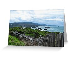 Mendocino Coast Fence Greeting Card