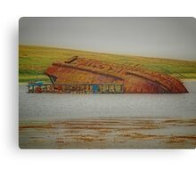 Wrecked at the Barriers Canvas Print