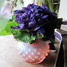 Violets in Hob Nail  by Barbara Wyeth