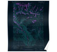 USGS Topo Map Washington State WA Goodnoe Hills 241358 1965 24000 Inverted Poster
