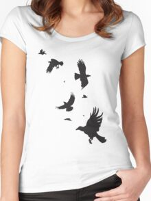 A Murder of Crows Women's Fitted Scoop T-Shirt