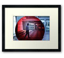 Crystal Bridges . org      Big Red Lens Framed Print