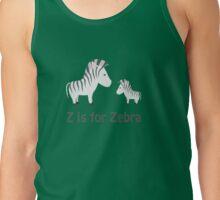 Funny Z is for Zebra design Tank Top