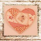 Heart Wall Hanging In Crazy Quilt Design  by Sandra Foster