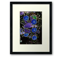 The Dark Side of Flowers 7 Framed Print