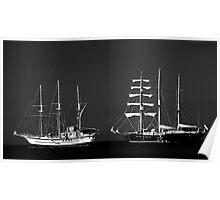Galapagos Ships Poster