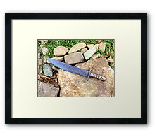 Blue Bowie Knife From Arkansas -- The Bowie Knife State Framed Print