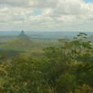 Glasshouse mountains pano by Michael Matthews