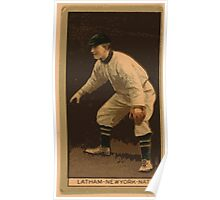 Benjamin K Edwards Collection W Arlington Latham New York Giants baseball card portrait Poster