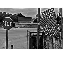 San Gregorio Intersection Photographic Print