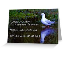 Banner for the Top 10 Winner Greeting Card