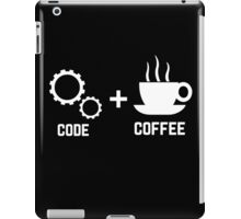Programmer : code and coffee. I am a programmer iPad Case/Skin