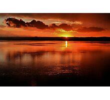 Sunburnt Sunset Photographic Print