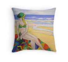 Beach girl # 1  Throw Pillow