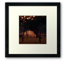 Smokey Dawn - Mt Barker, SA Framed Print