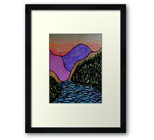 The Flowing River Framed Print