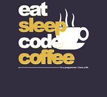 Programmer : eat, sleep, code, coffee Unisex T-Shirt