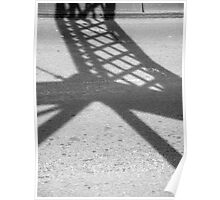 Abstract Forms: Shadow Truss, Shoalhaven River Poster