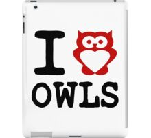 I HEART (Love) OWLS iPad Case/Skin