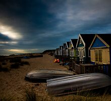Beach Huts on Mudeford Spit by Marcus Walters
