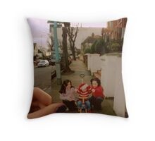 Christmas day, 2001 - My baby cousins second christmas  Throw Pillow