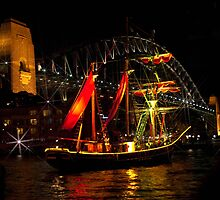 Sydney Harbour Lights 1 by Antonia  Valentine