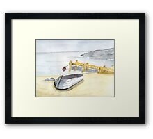 Stillness at the Beach Framed Print