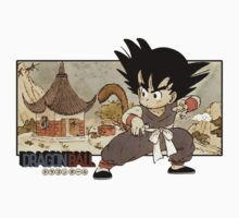 Son Goku on Mt. Paozu One Piece - Short Sleeve